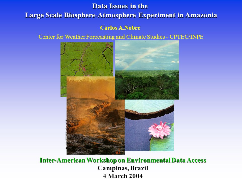 Large Scale Biosphere-Atmosphere Experiment in Amazonia