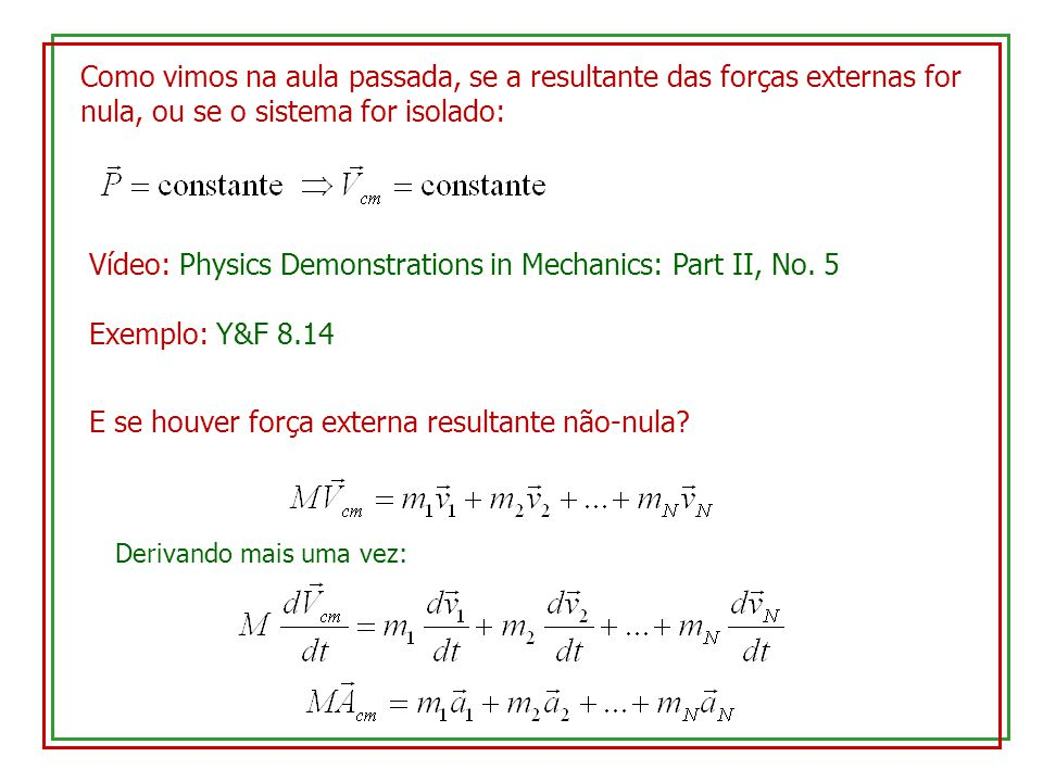 Vídeo: Physics Demonstrations in Mechanics: Part II, No. 5