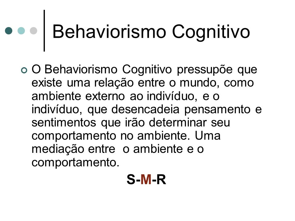 Behaviorismo Cognitivo