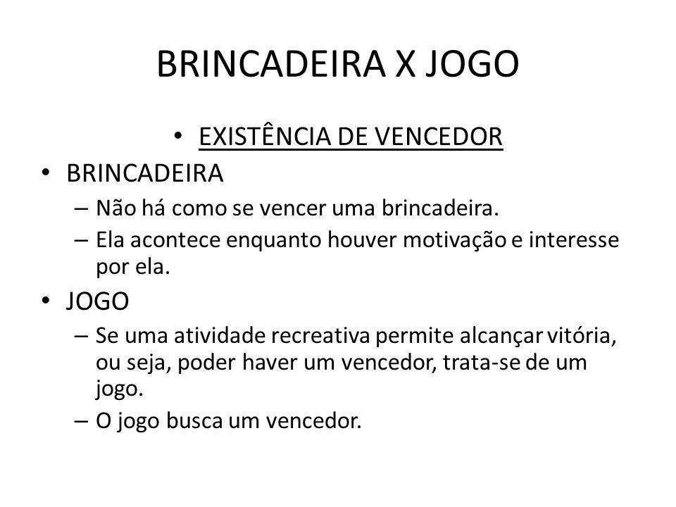 a8384ba1f0 TÉCNICAS DE RECREAÇÃO Aula 08 – DIFERENÇAS ENTRE BRINCADEIRA E JOGO ...