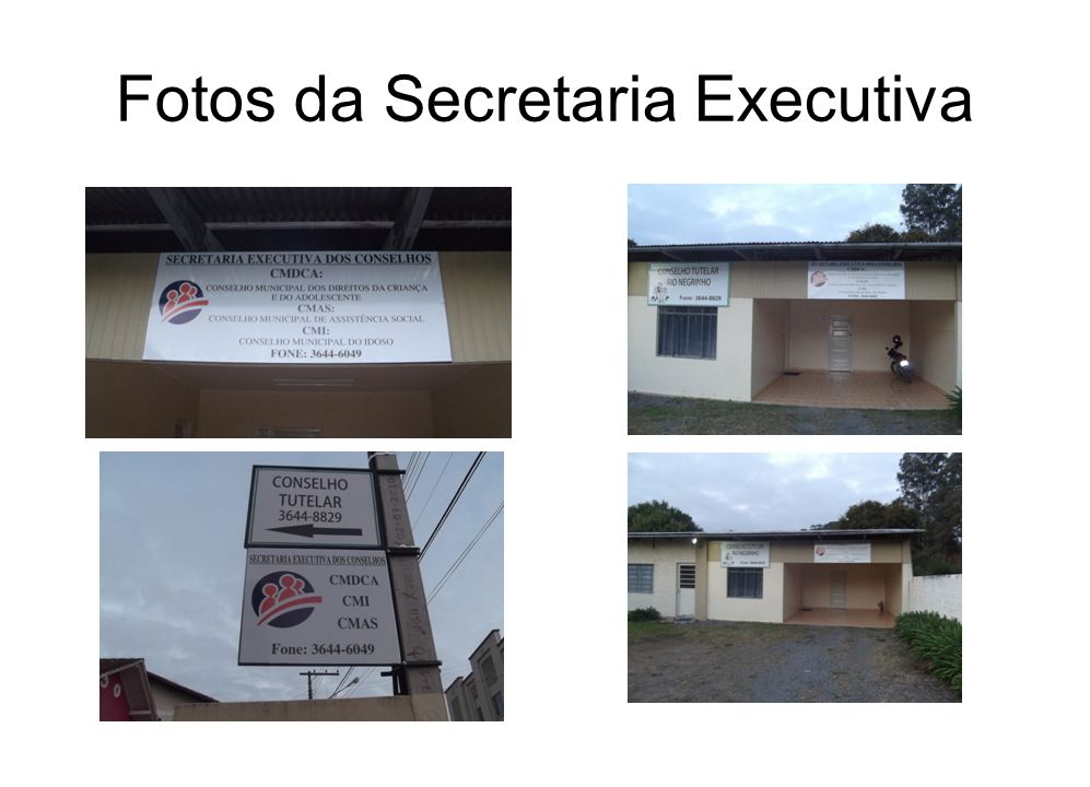 Fotos da Secretaria Executiva