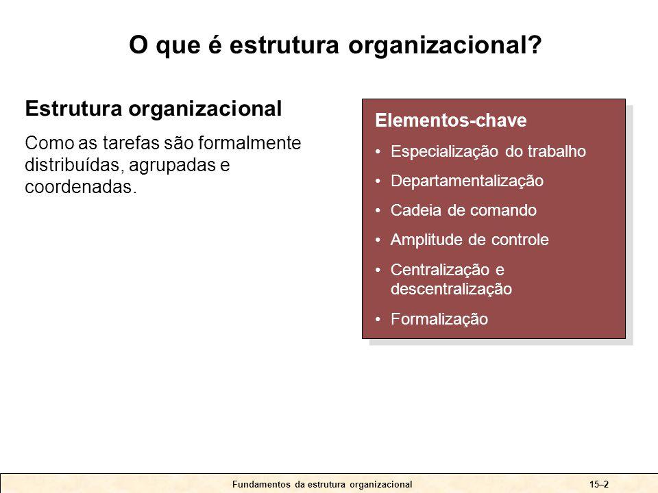 O que é especialização do trabalho