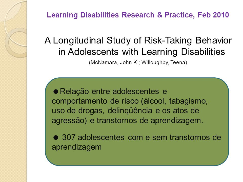 Learning Disabilities Research & Practice, Feb 2010