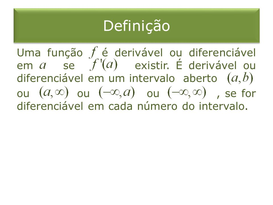 O que significa diferenciavel