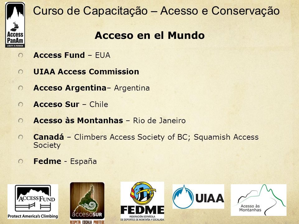 Acceso en el Mundo Access Fund – EUA UIAA Access Commission
