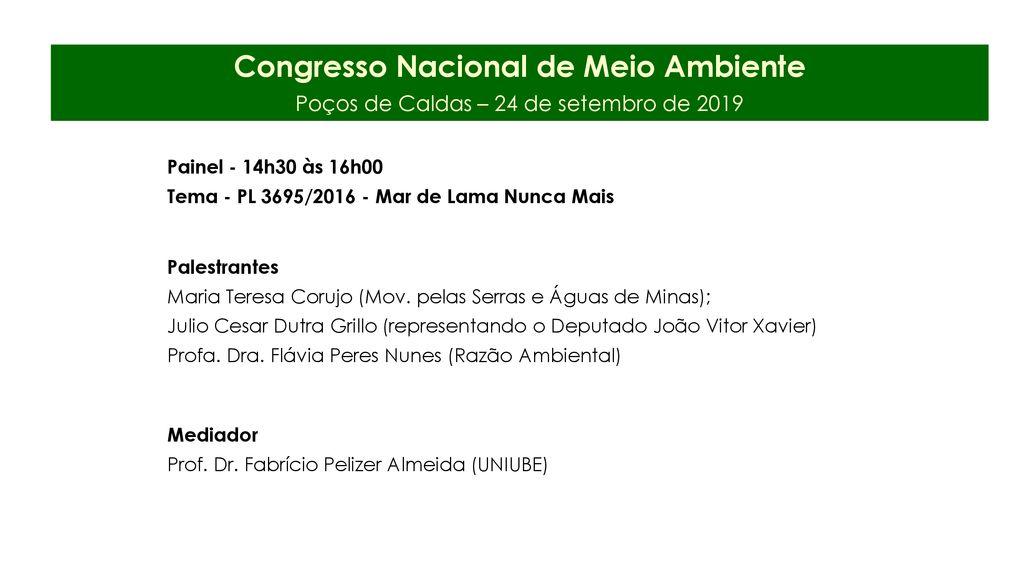 Congresso Nacional De Meio Ambiente Ppt Carregar