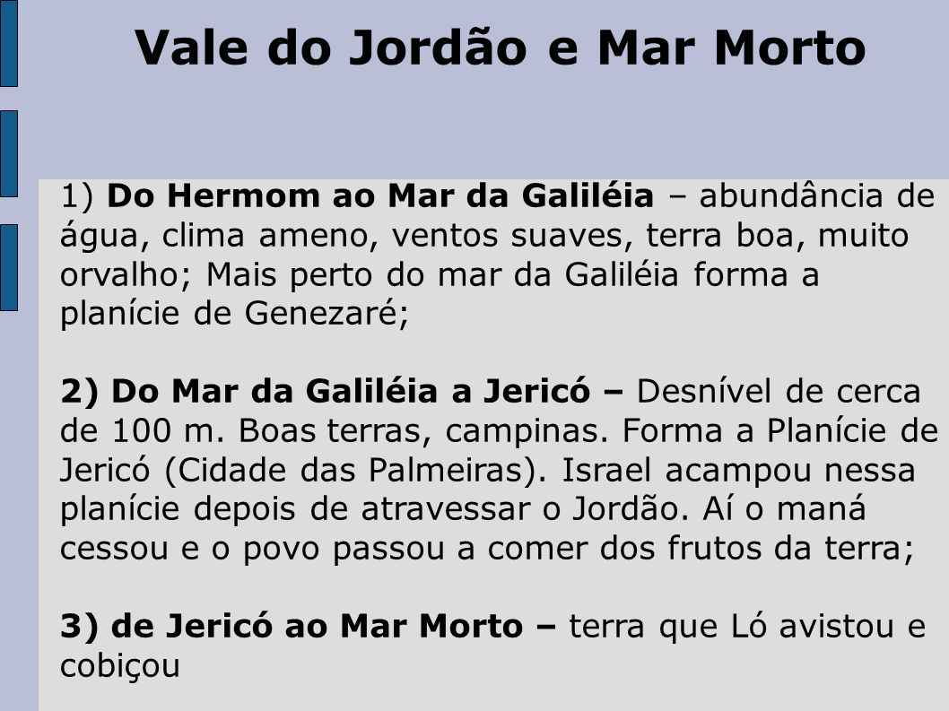 Vale do Jordão e Mar Morto