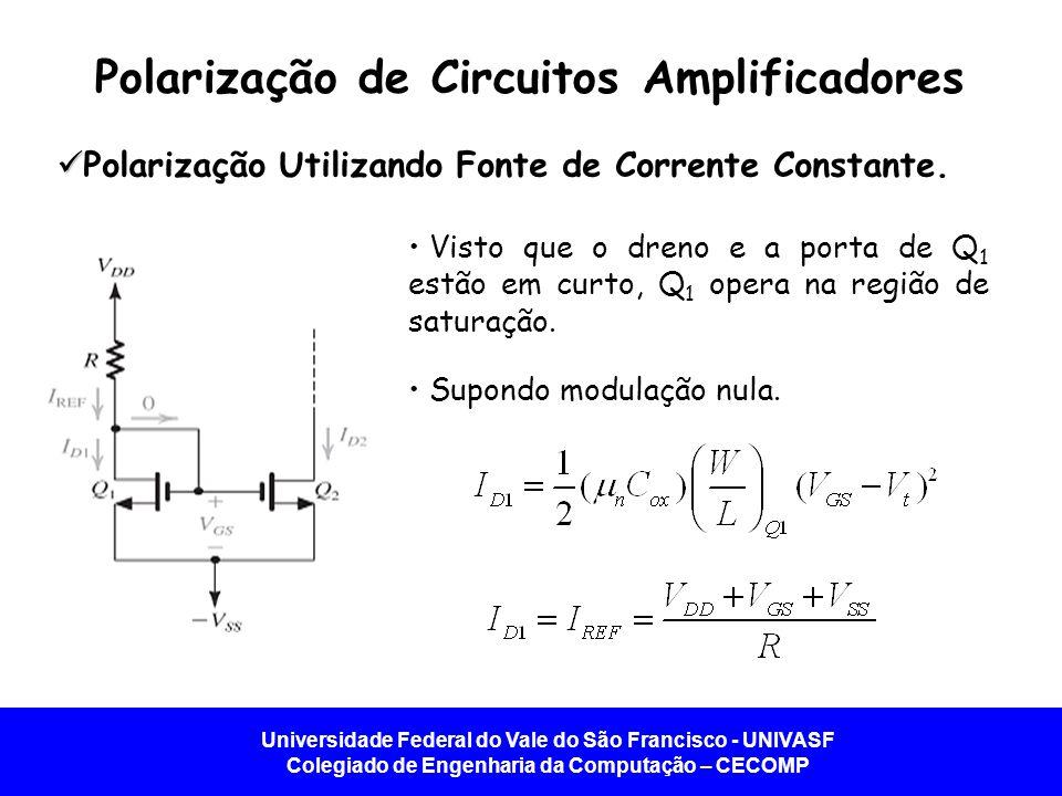 30649a5bcf327 ... Q1 opera na região de saturação. Supondo modulação nula. Polarização de  Circuitos Amplificadores