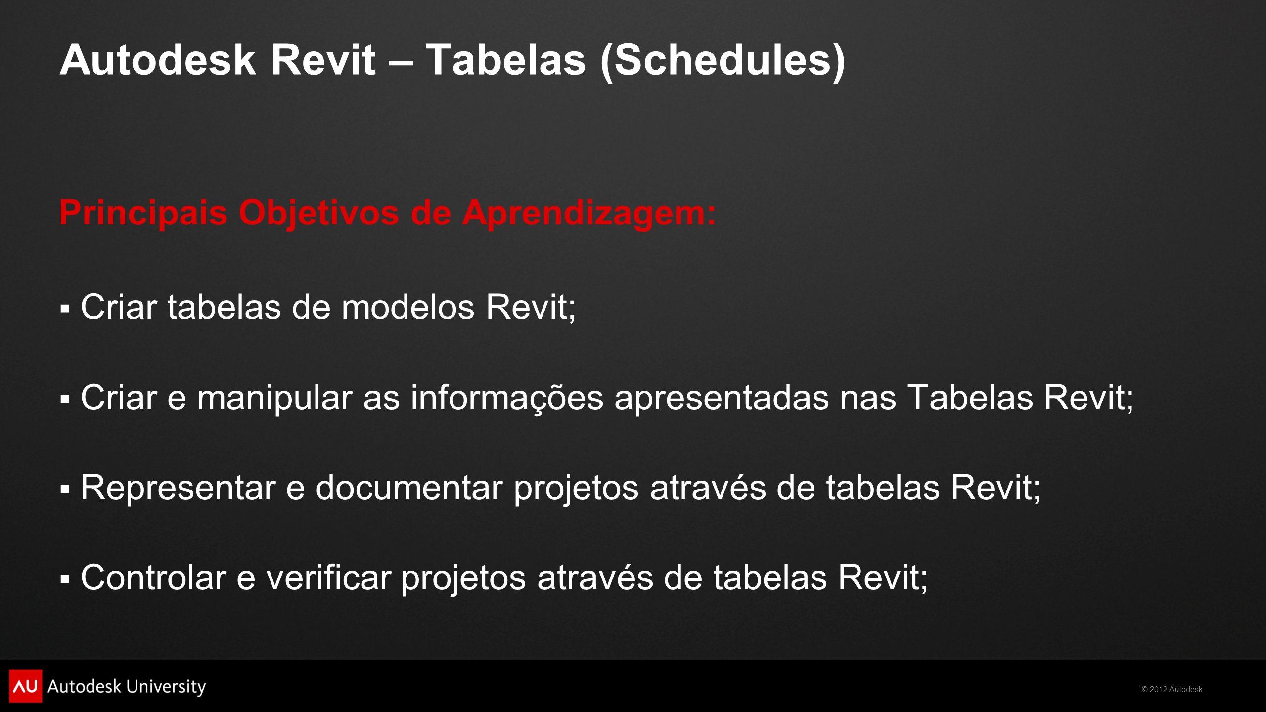AB5201-V Autodesk Revit – Tabelas (Schedules) - ppt carregar