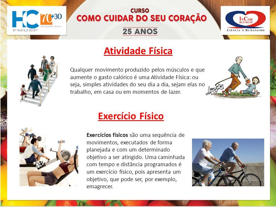 Exemplos de atividades fisicas