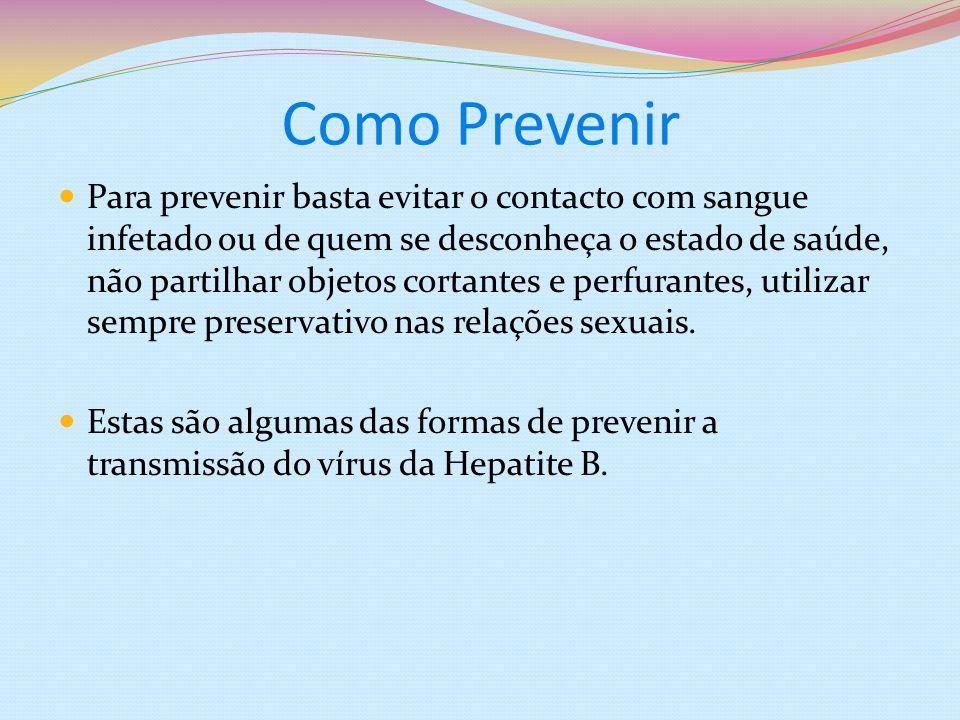 Como Prevenir As Hepatites