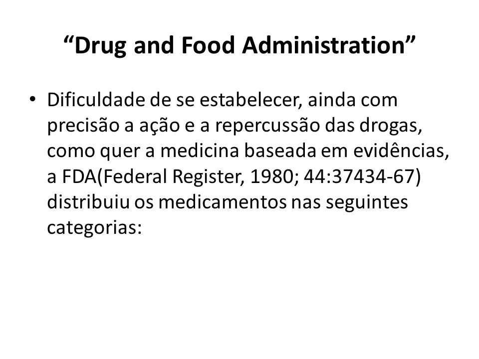 Drug and Food Administration
