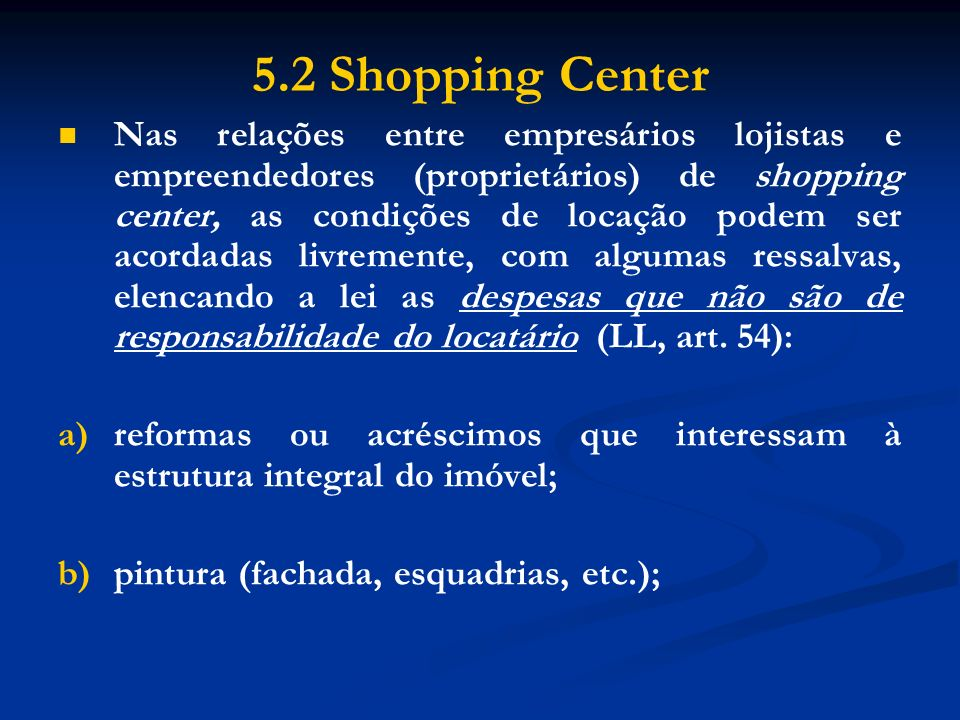 5.2 Shopping Center