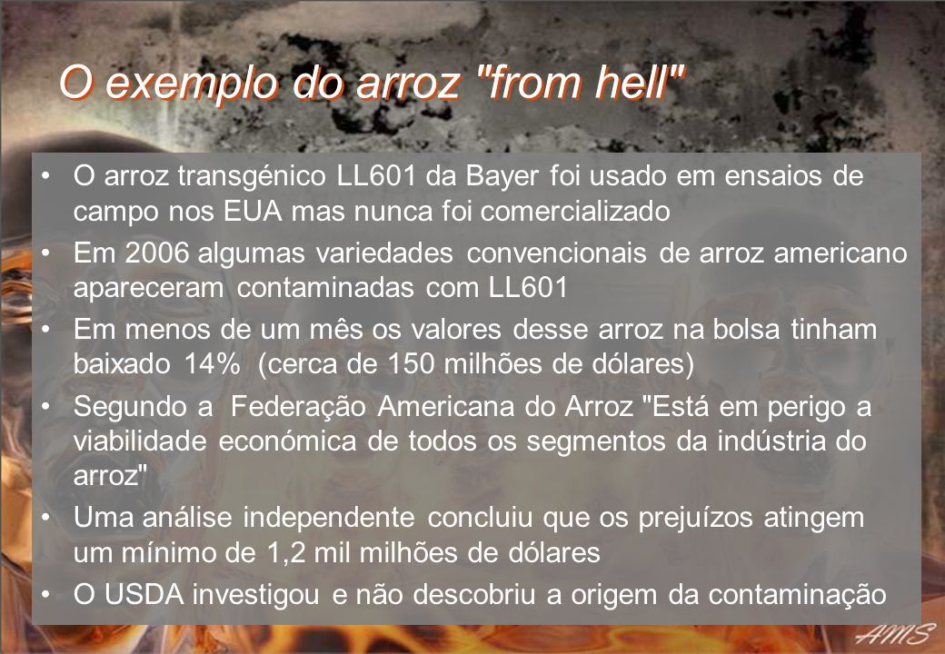 O exemplo do arroz from hell