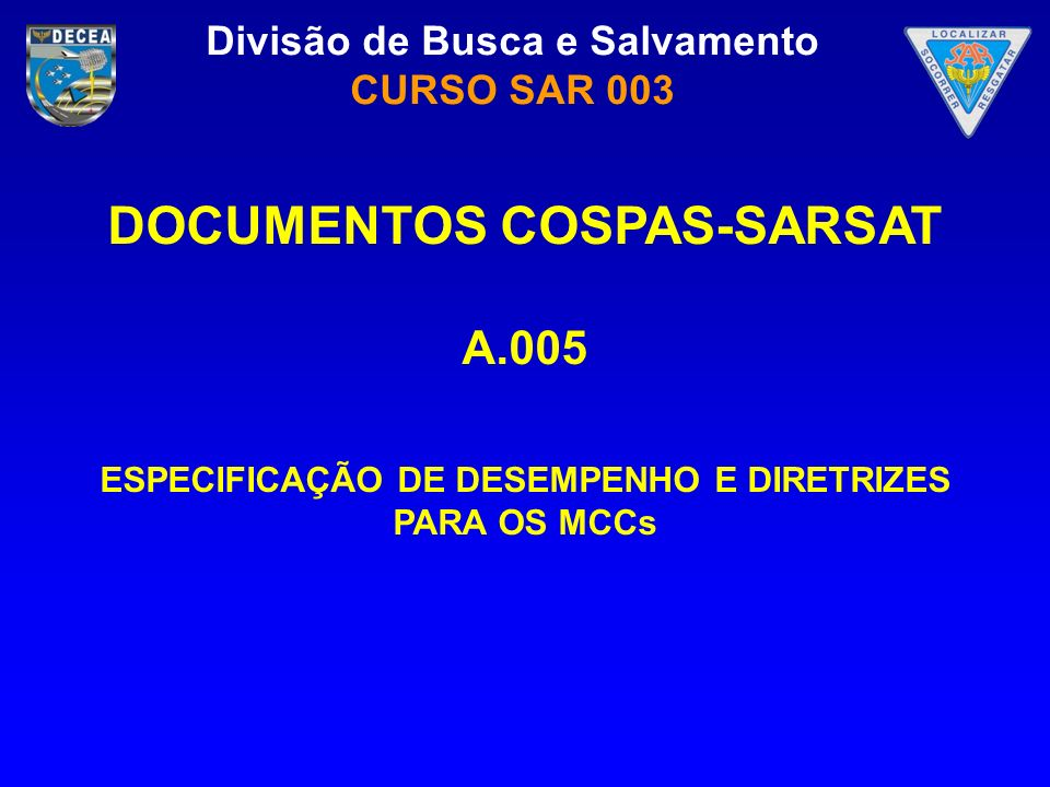 DOCUMENTOS COSPAS-SARSAT