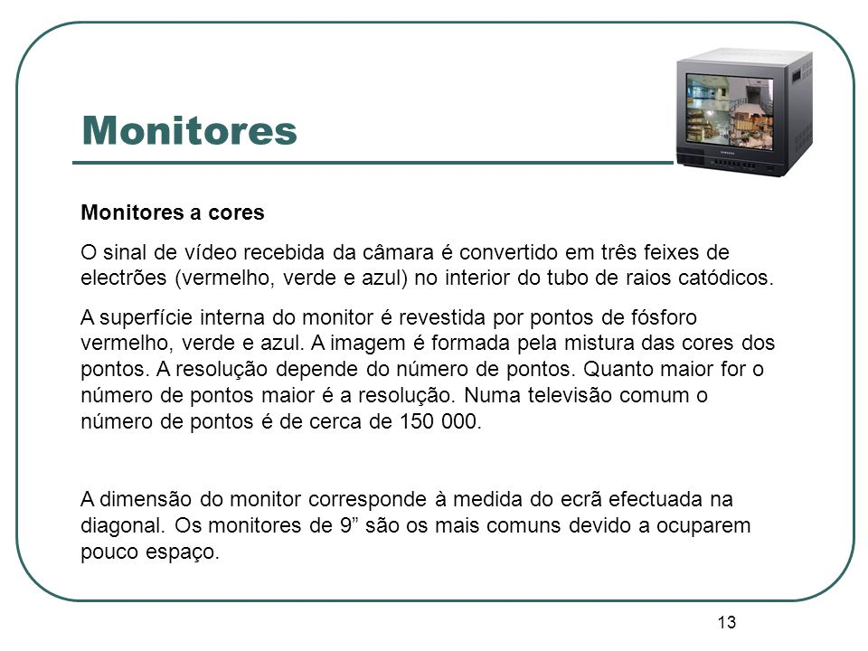Monitores Monitores a cores