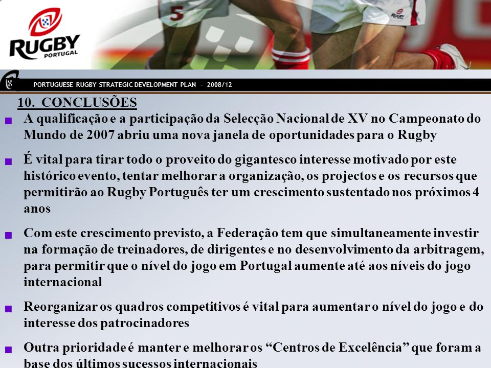 PORTUGUESE RUGBY STRATEGIC DEVELOPMENT PLAN - 2008/12