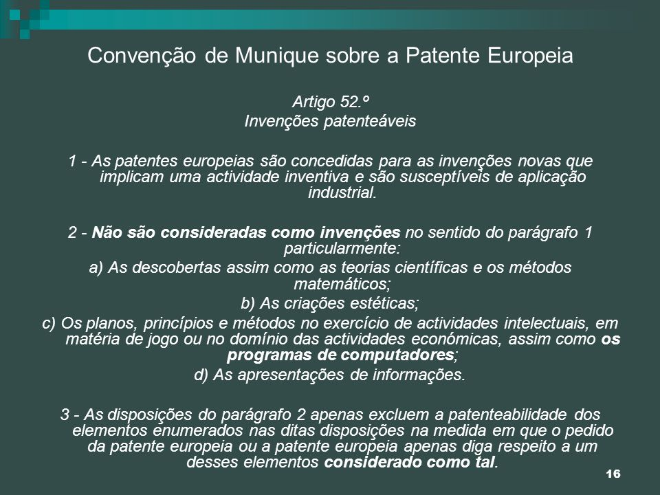 Convenção de Munique sobre a Patente Europeia