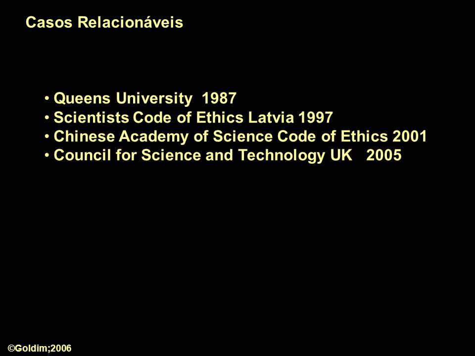 Scientists Code of Ethics Latvia 1997