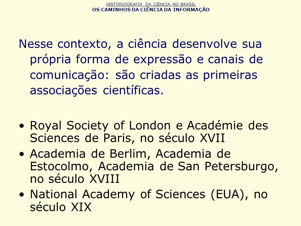 National Academy of Sciences (EUA), no século XIX