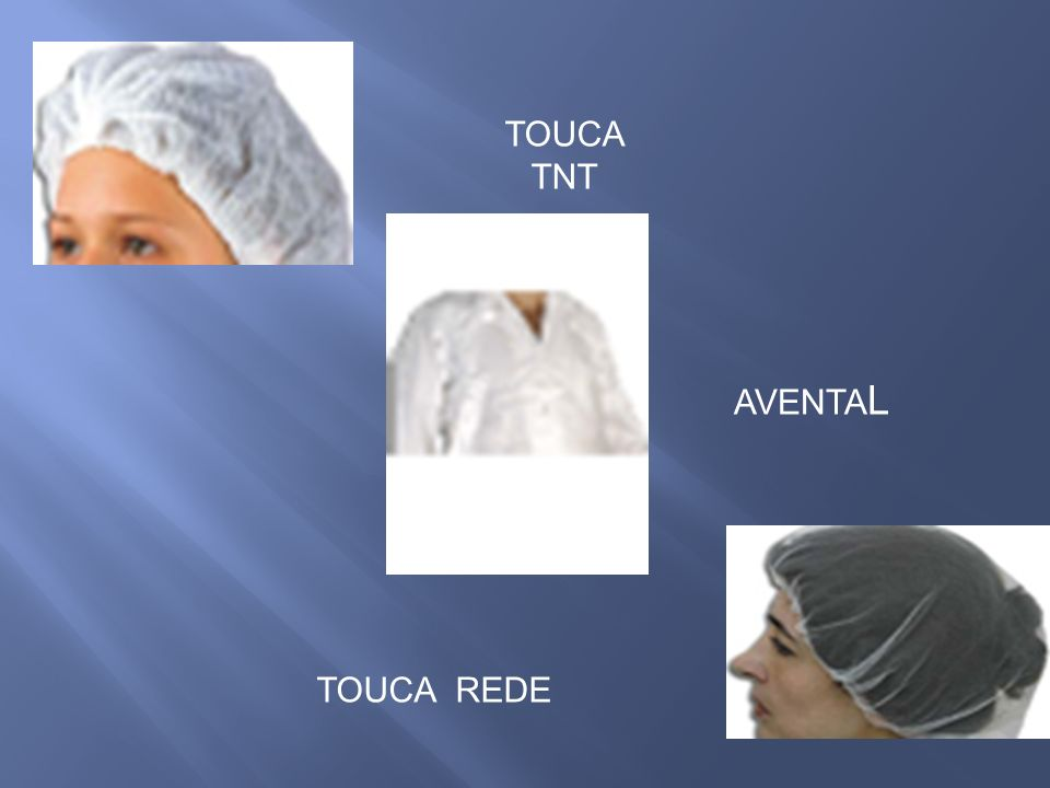 TOUCA TNT AVENTAL TOUCA REDE