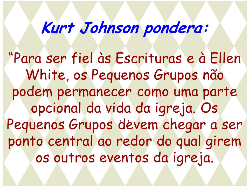 Kurt Johnson pondera: