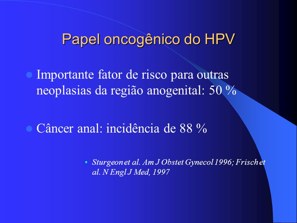 Papel oncogênico do HPV