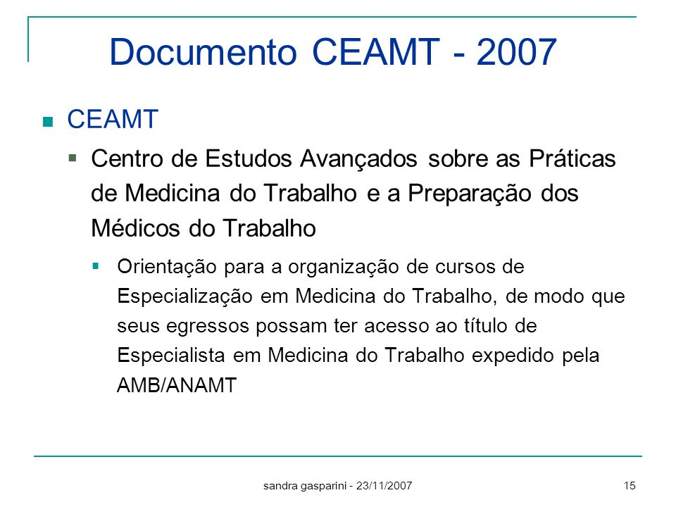 Documento CEAMT CEAMT