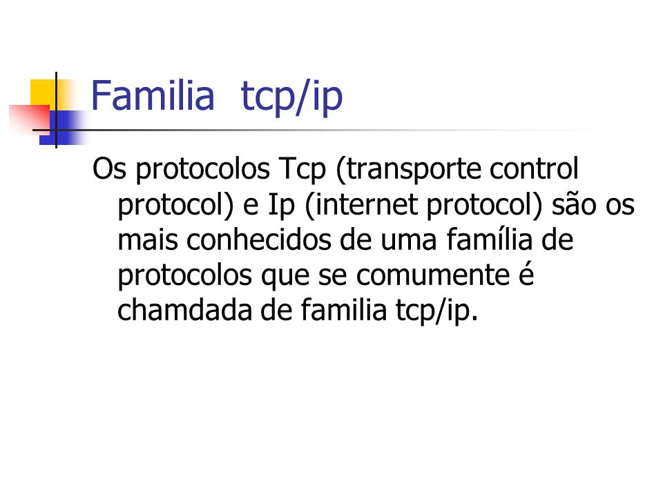 Familia tcp/ip