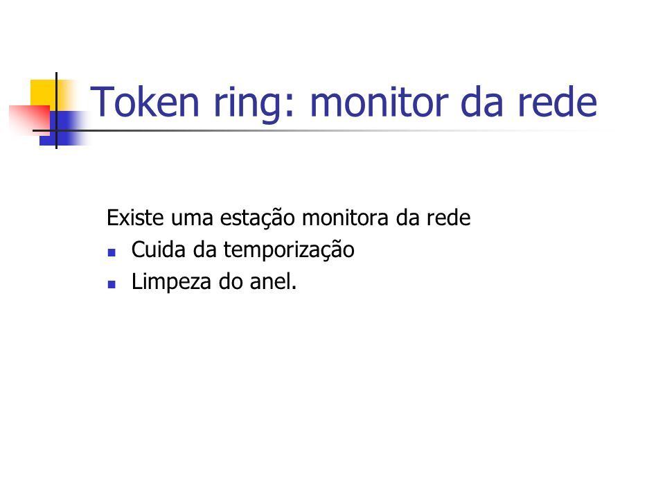 Token ring: monitor da rede