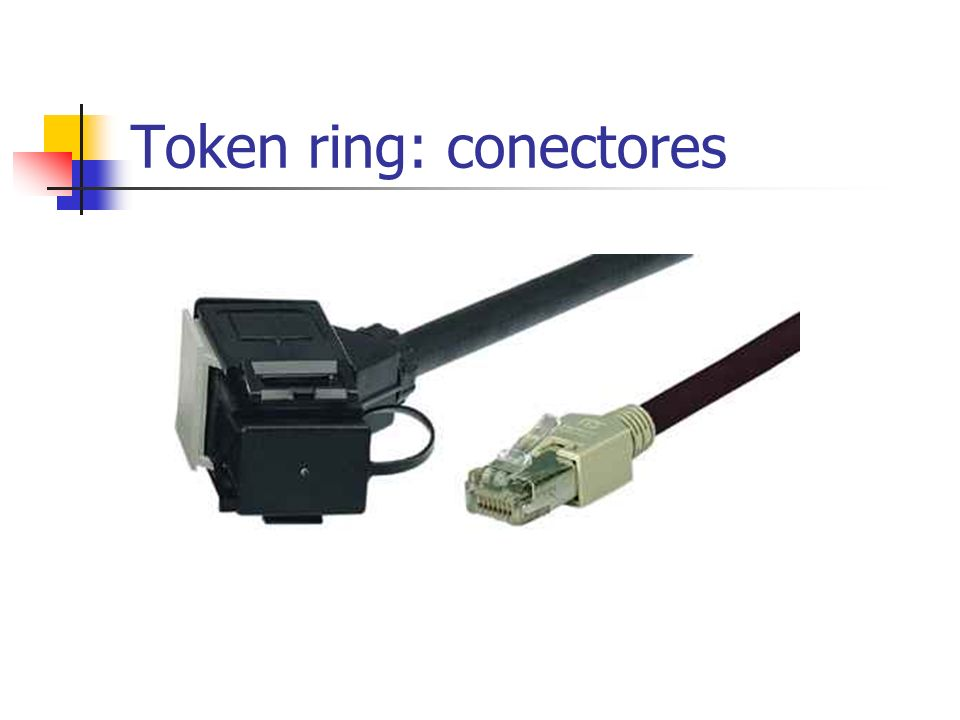 Token ring: conectores