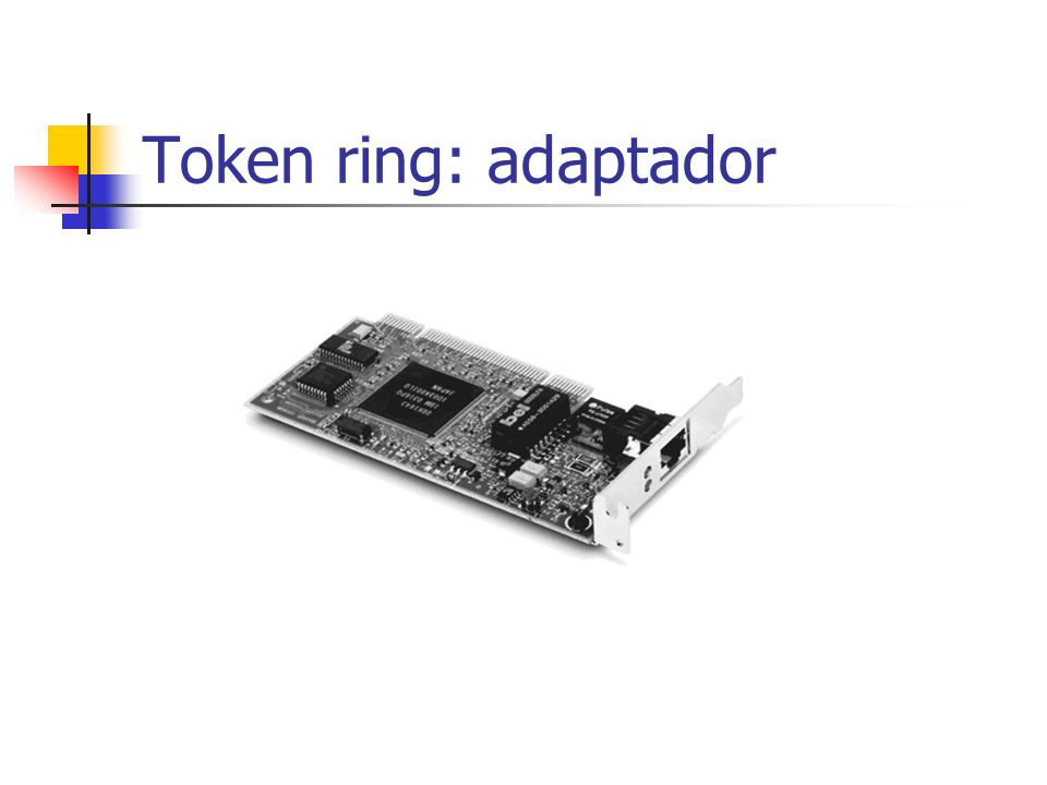 Token ring: adaptador