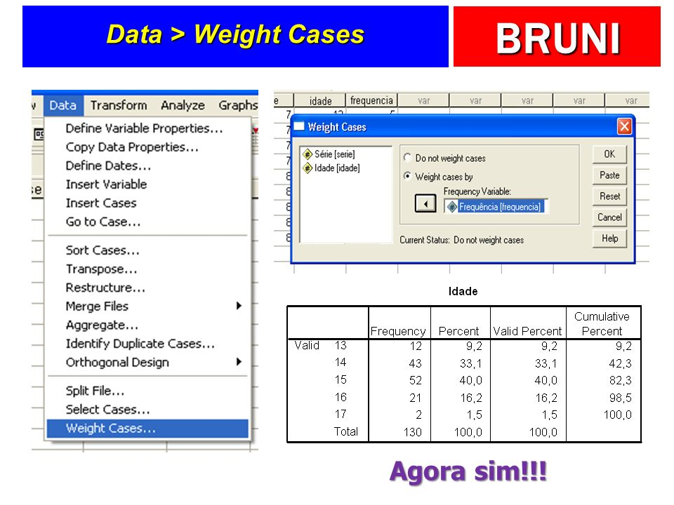 Data > Weight Cases Agora sim!!!
