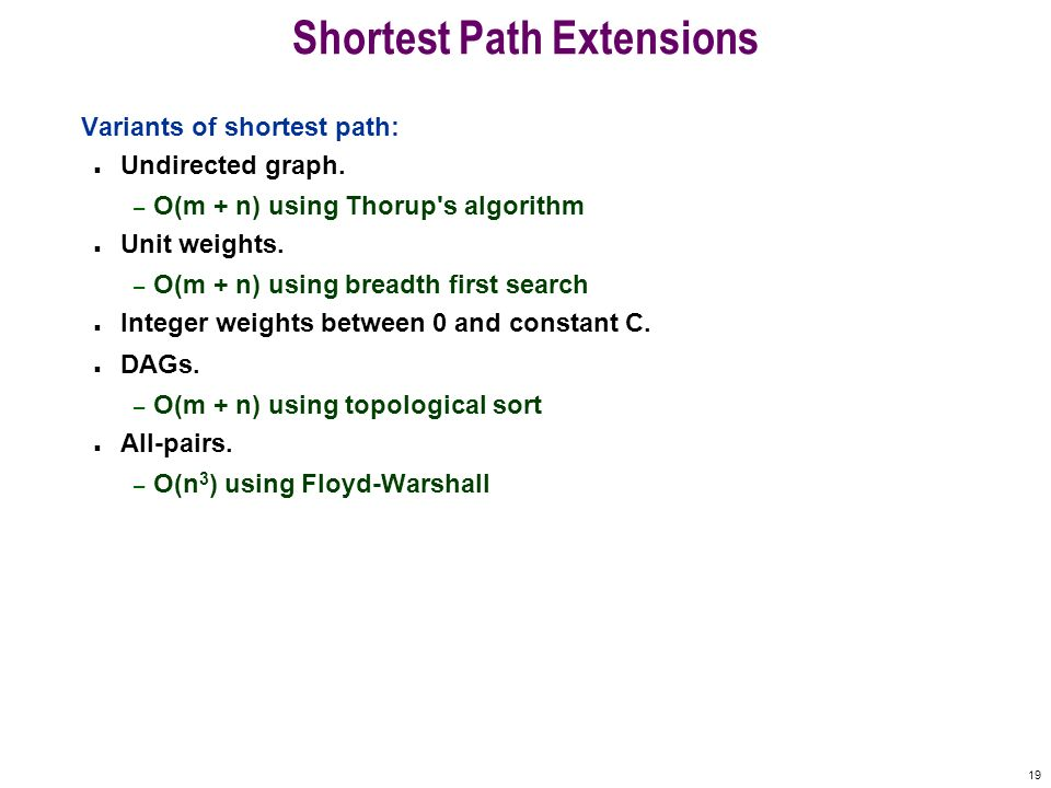 Shortest Path Extensions