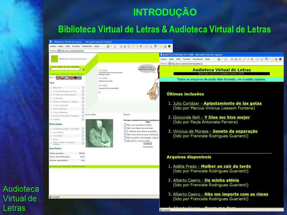 Biblioteca Virtual de Letras & Audioteca Virtual de Letras