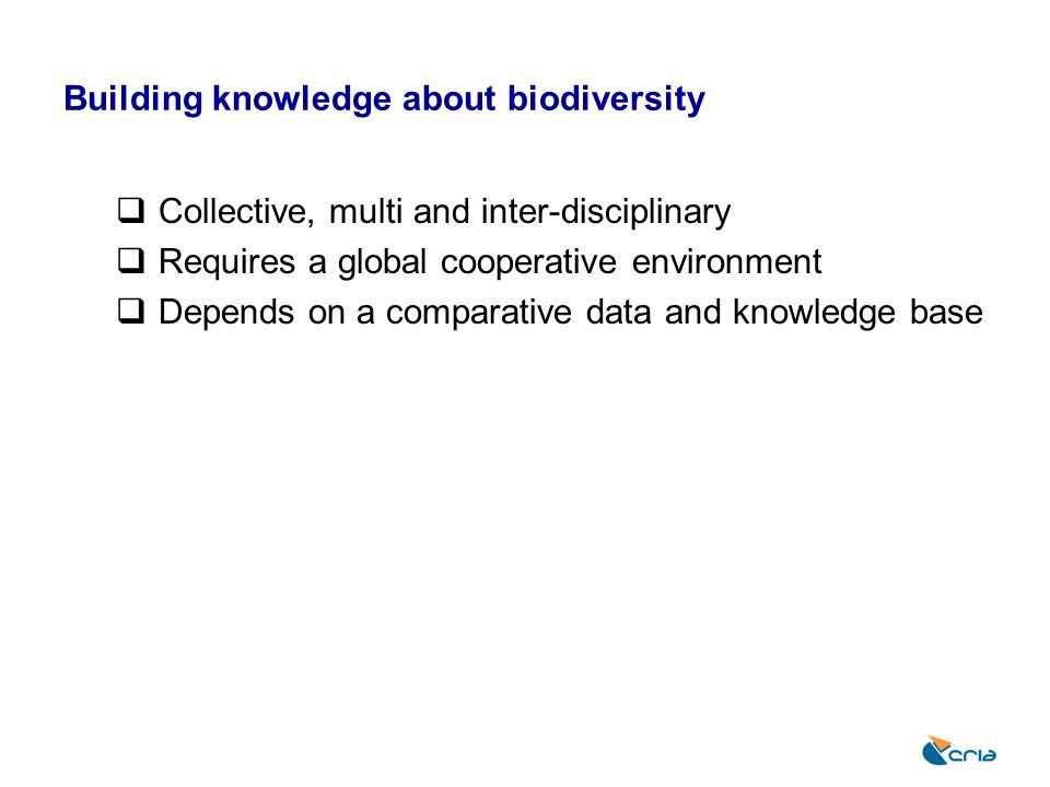 Building knowledge about biodiversity