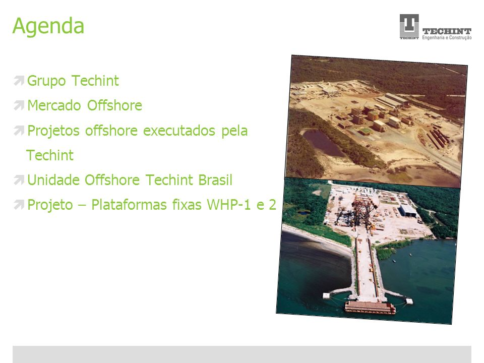 Agenda Grupo Techint Mercado Offshore