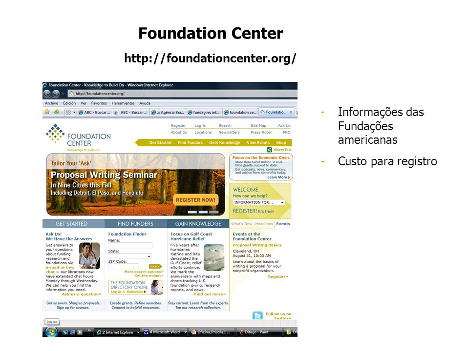Foundation Center http://foundationcenter.org/