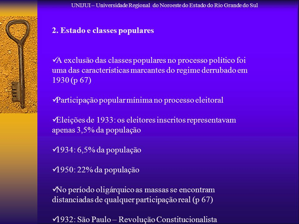 2. Estado e classes populares