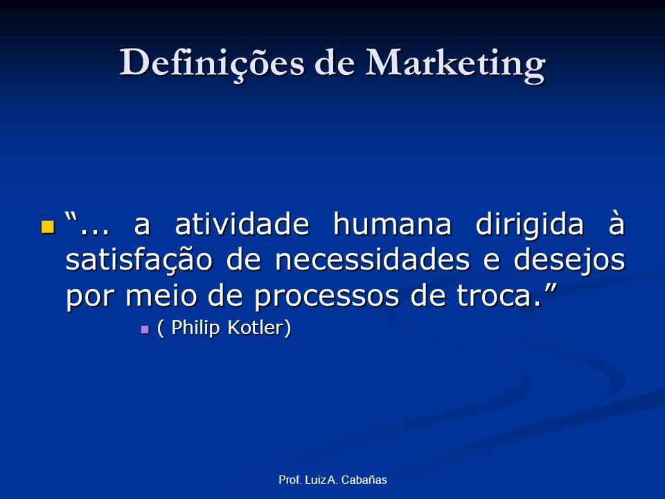 Definições de Marketing