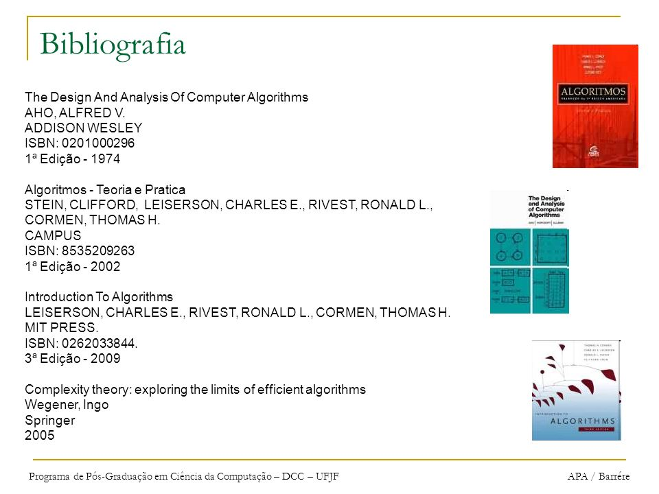 Bibliografia The Design And Analysis Of Computer Algorithms