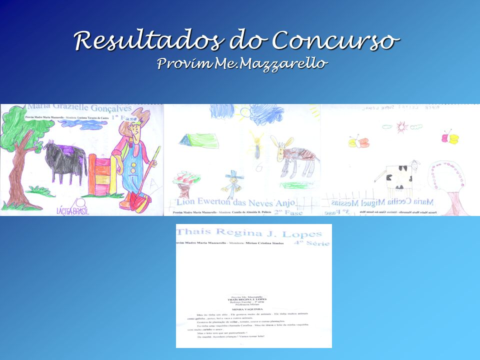 Resultados do Concurso Provim Me.Mazzarello