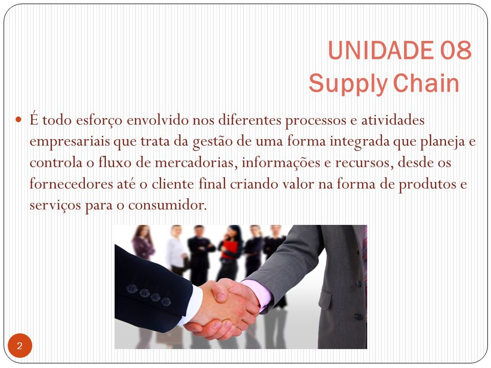 UNIDADE 08 Supply Chain