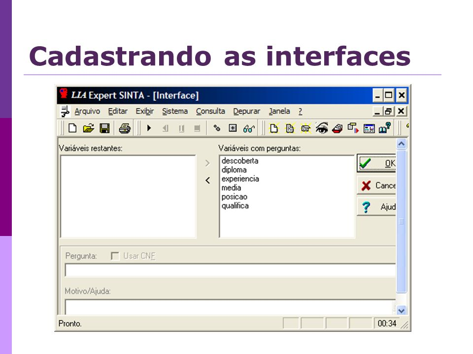 Cadastrando as interfaces