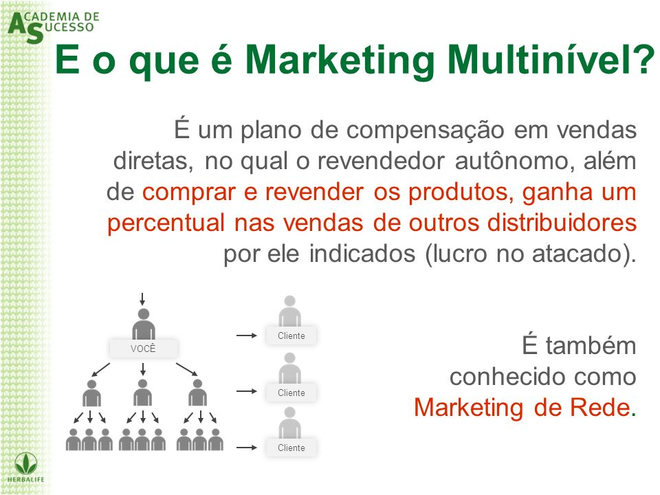 E o que é Marketing Multinível
