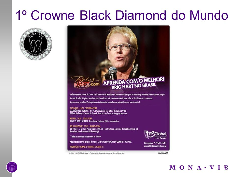 1º Crowne Black Diamond do Mundo