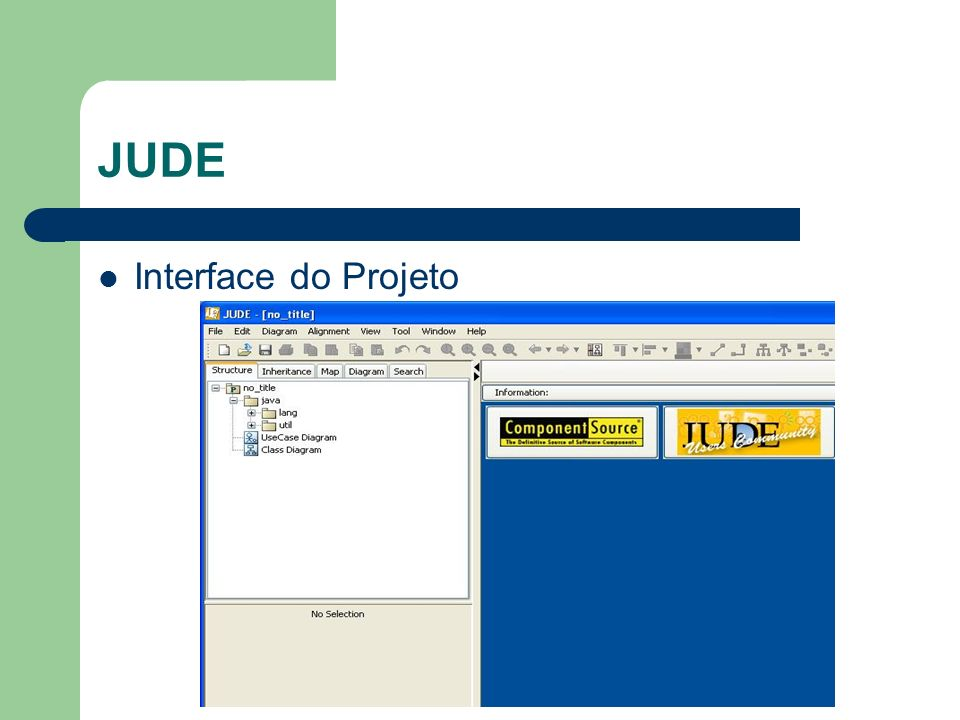 JUDE Interface do Projeto