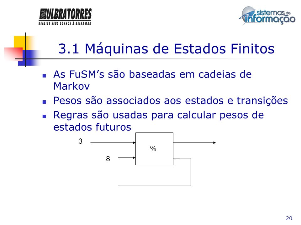 3.1 Máquinas de Estados Finitos