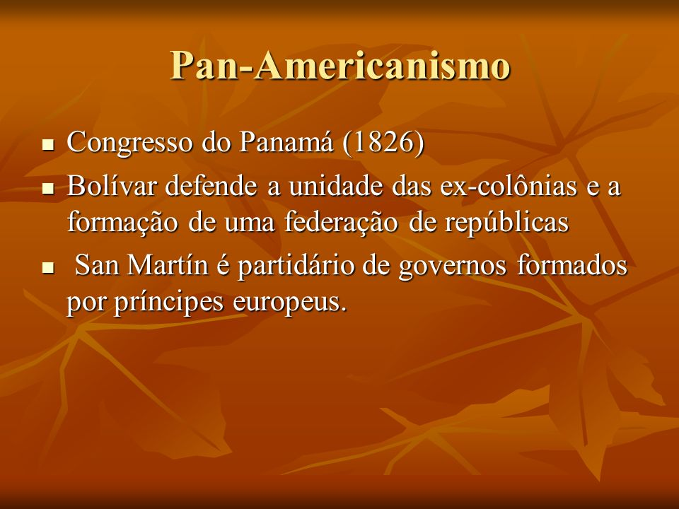 Pan-Americanismo Congresso do Panamá (1826)