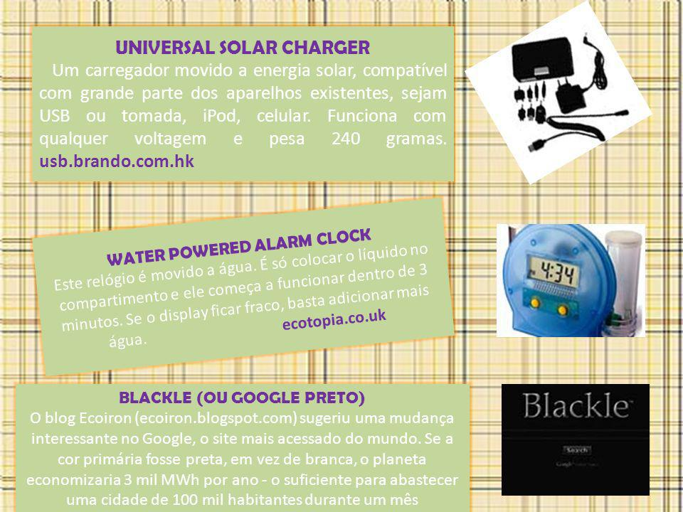 UNIVERSAL SOLAR CHARGER WATER POWERED ALARM CLOCK
